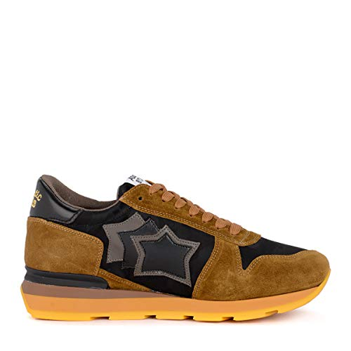 Taglia Stars Multicolore Nero Sirius E In Atlantic Tessuto Suede Sneaker Marrone Uk RO6xz