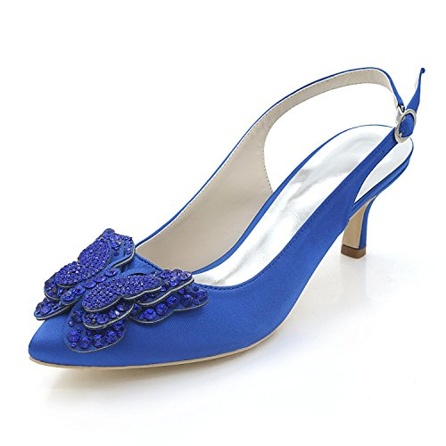 L@YC Tacones altos / Punta Estrecha Con La Boda / Multicolor / De Gran TamañO / Personalizado Blue