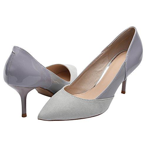 Talon Pompes Aiguille Bout Jamron Habillées Femmes Travail De Élégant Soirée Pointu Sexy Bureau Gris Chaussures Uniformes Mariage Bal wqgIgYaxX
