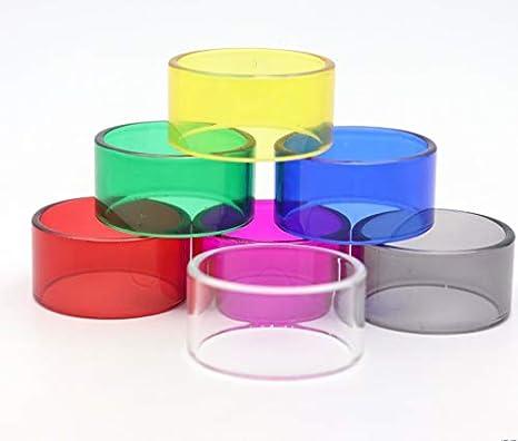 7PCS reemplazo del tubo de cristal en forma for VGOD ELITE RDTA / ajuste for el aguacate 24 RDTA / ajuste for VGOD RDTA (naves una de cada color) ( Color : Multi , tamaño : Fit for Avocado 24 RDTA )