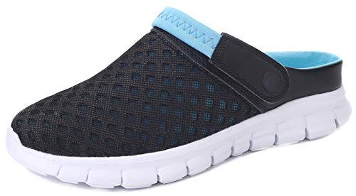Yooeen Mens Womens Mesh Sandals Garden Clog Shoes Breathable Summer Indoor Outdoor Slippers Lightweight Walking Beach Sports ()