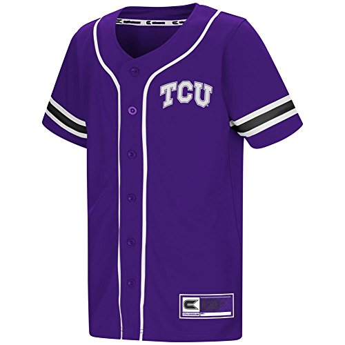 Youth TCU Texas Christian Baseball Jersey (YTH (12-14))