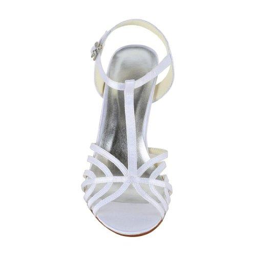 Jia Jia Wedding 1416 Hochzeitsschuhe Brautschuhe Damen Pumps Weiß