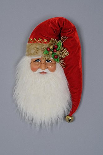 (Karen Didion Santa Head Wall/Door Hanger)