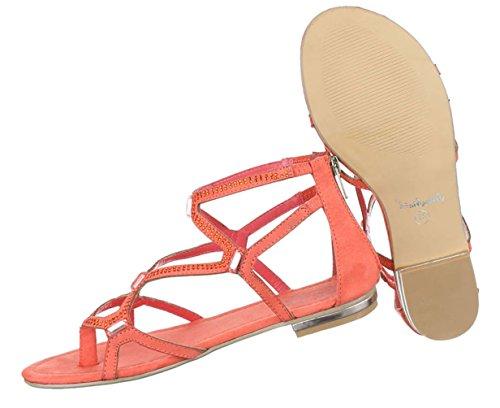 Damen Sandalen Schuhe Sommerschuhe Strandschuhe Zehentrenner Coral 36 37 38 39 40 41