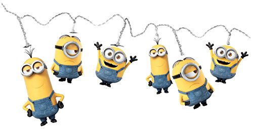 White LED Minions String Lights- Bob, Kevin and Stuart. Perfect gift idea for Minions fans!