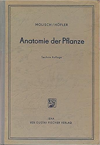 Anatomie der Pflanze.: Amazon.de: Karl Höfler, Hans Molisch: Bücher
