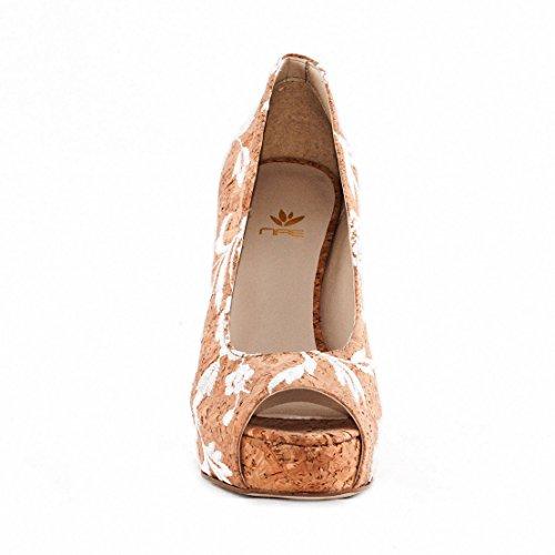 NAE Cork Rose Peep Toe F - chaussures vegan