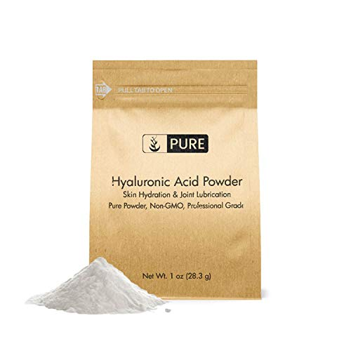 Hyaluronic Acid Powder (1 oz) by Pure Organic Ingredients, Highest Purity, Food & Cosmetic Grade, Skin Care, Eco-Friendly Packaging