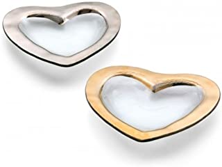 "product image for Annieglass 8"" Glass Heart Bowl with Gold Trim"
