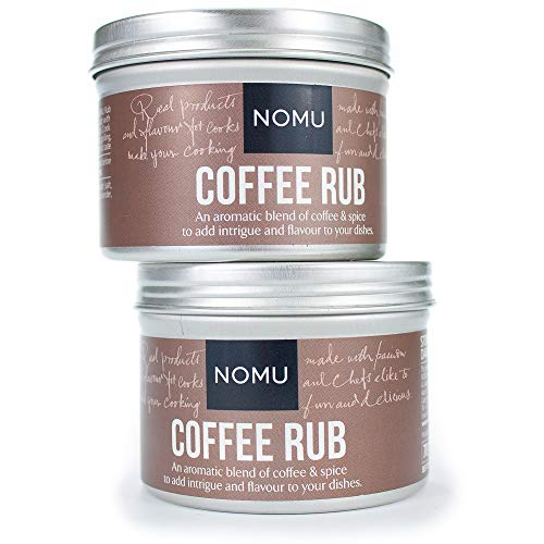 (NOMU Coffee Seasoning Rub Blend (2-Pack | 4.9oz) | MSG & Gluten Free, Non-GMO, Non-Irradiated)