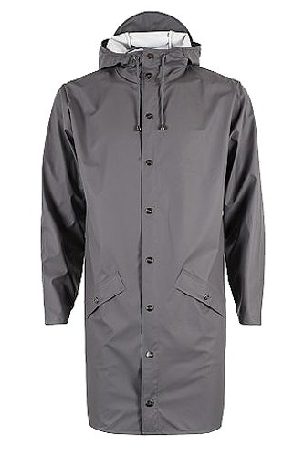 Rains 48 smoke Impermeabile Long Grigio Uomo Jacket BxrB1wqfT