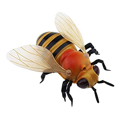 Tipmant Kids RC Honey Bee Toy Infrared Remote Control Car Vehicle Electric Animal Fake Insect: Toys & Games