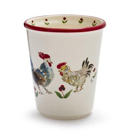 Sur La Table Jacques Pepin Collection Chickens Utensil Crock 735/15