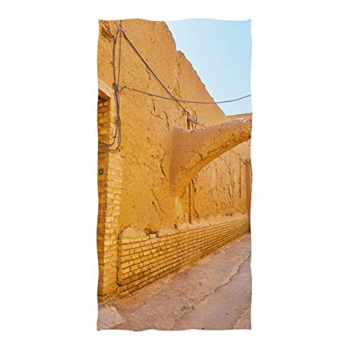 (Microfiber Beach Towel Ancient Passageway Mysterious Hallway Large Beach Blanket Towel Lightweight Towel for Travel Pool Swimming Bath Camping Yoga Gym Sports Women Adults Oversized 37 X 74 Inch )