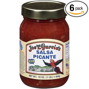 Joe T Garcias Salsa Picante 16oz Glass Jar (Pack of 6) (Medium)