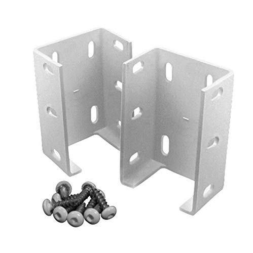 Aluminum Fence Rail Bracket 2 Packs Heavy Duty Metal Outdoor Garden Vinyl Fence.
