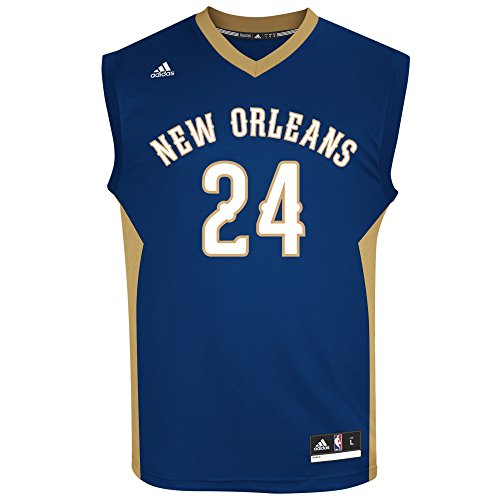 fan products of NBA New Orleans Pelicans Men's Replica Jersey, Medium, Navy