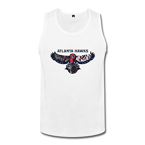 NBA Atlanta Hawks 2015 Men Tank Tops Medium White