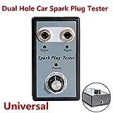 Tivolii Spark Plug Tester Dual Hole Car Spark Plug Tester Ignition Plug System Analyzer Diagnostic Coil Engine in Line Auto Diagnostic Test Tool