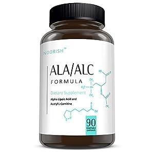 Acetyl L Carnitine with Alpha Lipoic Acid ALA ALC ALCAR Alpha Lipoic Acid with Acetyl L Carnitine 525 mg ALCAR 225 mg ALA 90 capsules