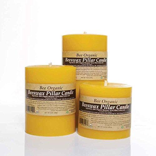 Pillar Candle Beeswax (Large Organic Beeswax Pillar Candle Set)