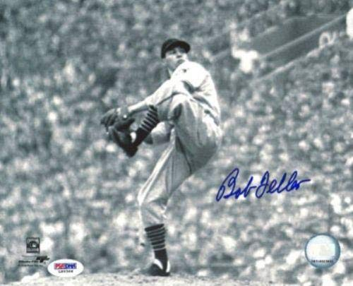 Bob Feller Signed Photo - 8x10#5 - PSA/DNA Certified - Autographed MLB Photos