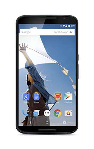 "Motorola Nexus 6 GSM Unlocked Smartphone, 64GB, 6"" Screen, Dual Front-facing Stereo Speakers - Midnight Blue (International)"