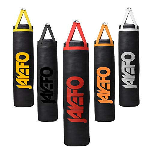 Jayefo Trexter Heavy Punching Bag Muay Thai Boxing MMA Fitness Workout Training Kicking Punching Banana Bag - Unfilled (Black/RED)