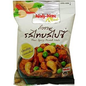- Koh-kae Thai Spicy Mixed Nuts Herbal Snack Net Wt 35 G (1.23 Oz) X 5 Bags