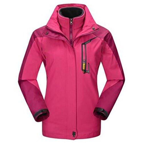 In Donna Sport Due Da Alpinismo Impermeabile Outdoor Pezzi Antivento Traspirante Caldo Giacche Rosered UqTYxawU