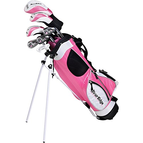 Tour Edge HT Max-J Set (Junior's, Ages 9-12, 7 Club Set, Right Handed, with Bag, Pink) ()