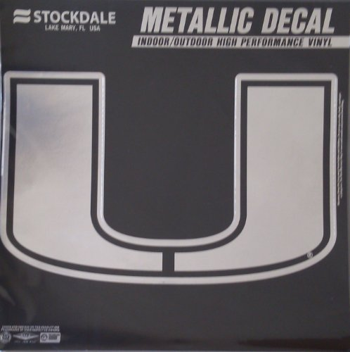 Miami (Florida), University of S46324 Metallic Window Decals