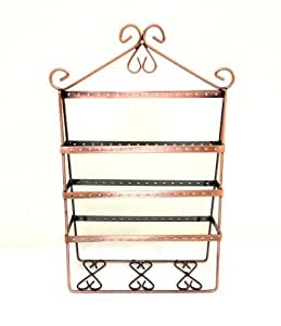 Vintage copper wire jewelry organizer earring for How to make a wire tree jewelry stand