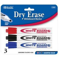 DDI - BAZIC Assorted Color Chisel Tip Dry-Erase Markers (1 pack of 144 items) by DDI