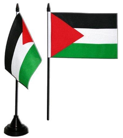 Digni Drapeau de table Palestine, mini drapeau - 10 x 15 cm