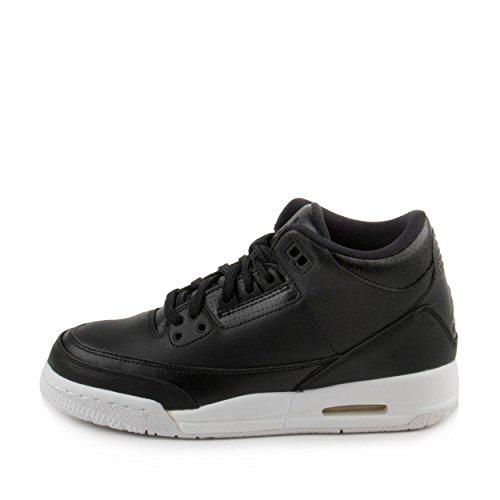 Image of Jordan Air 3 Retro BG Big Kids Basketball Shoes Black/White 398614-020 (6 M US)