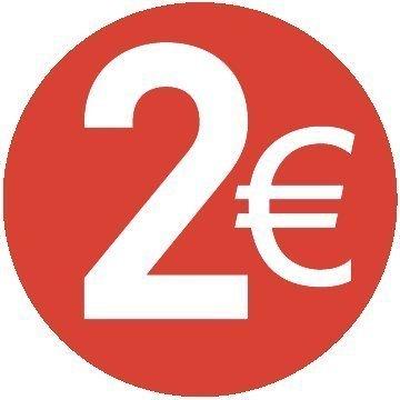 2 /€ EURO Paquete de 200-30mm rojo Price stickers