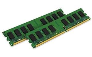 Kingston ValueRAM 2GB Kit (2x1GB) 667MHz DDR2 Non-ECC CL5 240-Pin Unbuffered DIMM Desktop Memory (KVR667D2N5K2/2G)