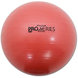 Thera-band Red Slow Deflate System Pro-series Anti-burst Exercise Ball, 55cm , (Old Version)