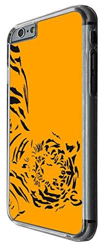 1445 - Cool Fun Trendy cute tiger cat feline wildlife art black and white rare Design iphone 4 4S Coque Fashion Trend Case Coque Protection Cover plastique et métal - Clear