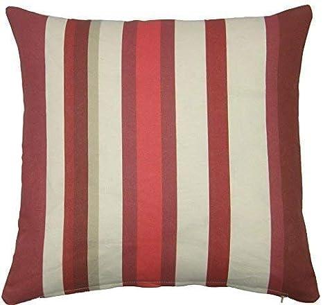Rayas rojas crema homespace 45,72 cm funda de cojín vonella ...