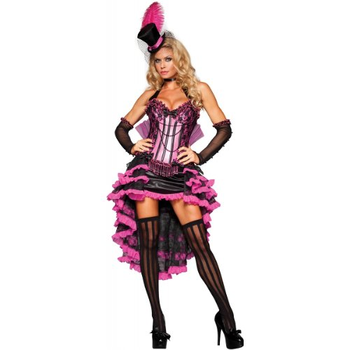 Burlesques Costumes (InCharacter Costumes Women's Burlesque Beauty Costume, Pink/Black, Small)