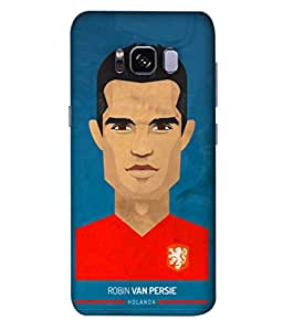 ColorKing Football Persie Holand 01 Blue shell case cover for Samsung S8