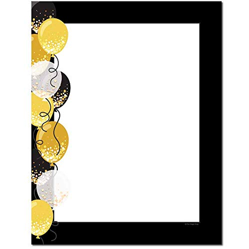 Balloon Border Letterhead Laser & Inkjet Printer Paper (25 -