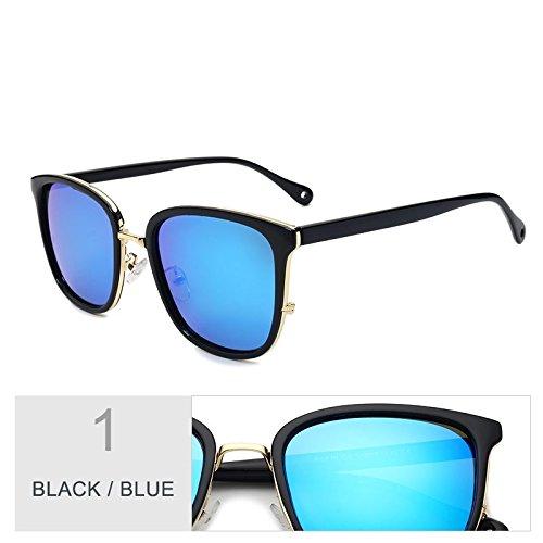 sol de polarizadas Piazza Gafas de Sunglasses gafas Gafas popular TR90 mujeres para Blue sol Gris lentes sol Black TL estilo de femenina Gris UV400 AwPqO