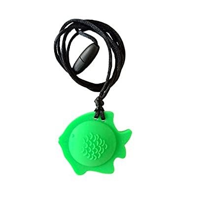 chubuddy Chewable Fish Pendant Chewie, Non-Toxic Material-Fern: Beauty