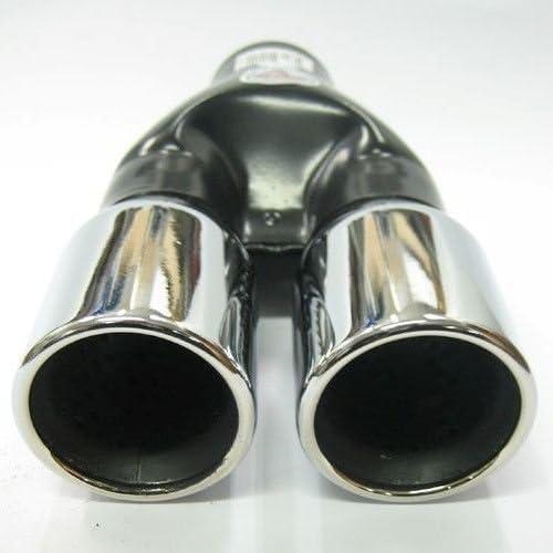 Autohobby 421 Doppel Auspuffblende Auspuff Universal Schalldampf Endrohr Doppelendrohr Sport Sportauspuff Edelstahl bis 60mm /Ø A B C G D H J CC 3 4 5 6 7 Chrom