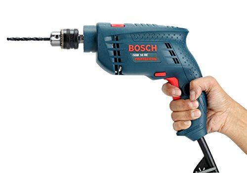 Bosch GSB 500W 10 RE Professional Tool Kit, MS & Plastic (Blue, Set of 100 Tools) 4