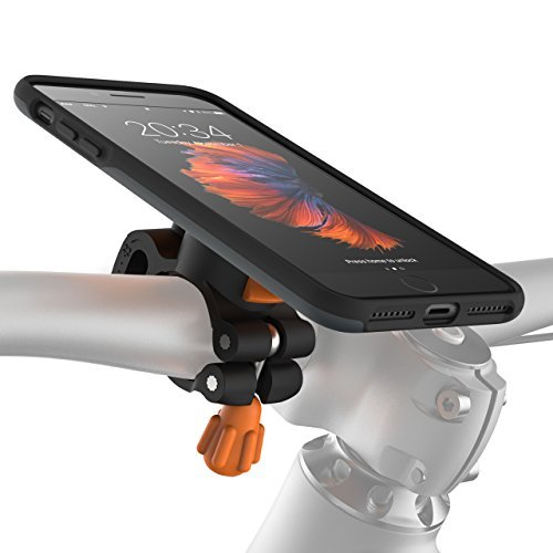MORPHEUS LABS M4s iPhone 8 Plus Bike Mount iPhone 7 Plus Bike Mount, Phone Holder & iPhone 8 Plus Case, Bicycle Holder, fits to Most Handlebars, with Quick Lock Magnetic for iPhone 7Plus /8Plus [Grey] by MORPHEUS LABS
